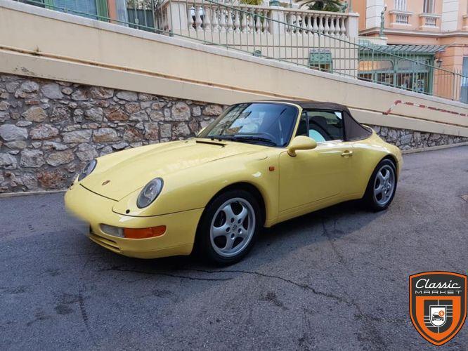 Rare Porsche 993 cabriolet avec seulement 61000 km