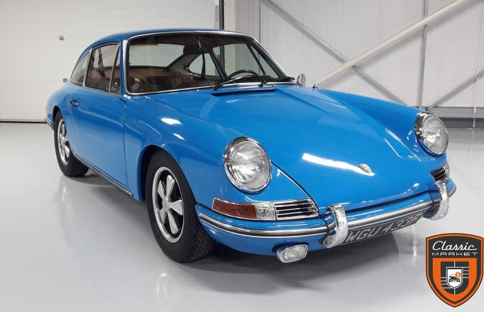 1968 SWB Porsche 911T, rare Euro model, restored, with many original features