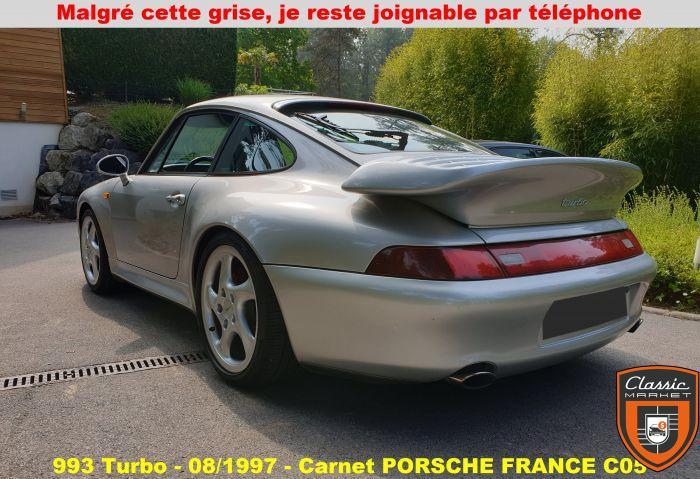 PORSCHE 993 Turbo - Carnet PORSCHE FRANCE - Suivi presque à 100% en concession