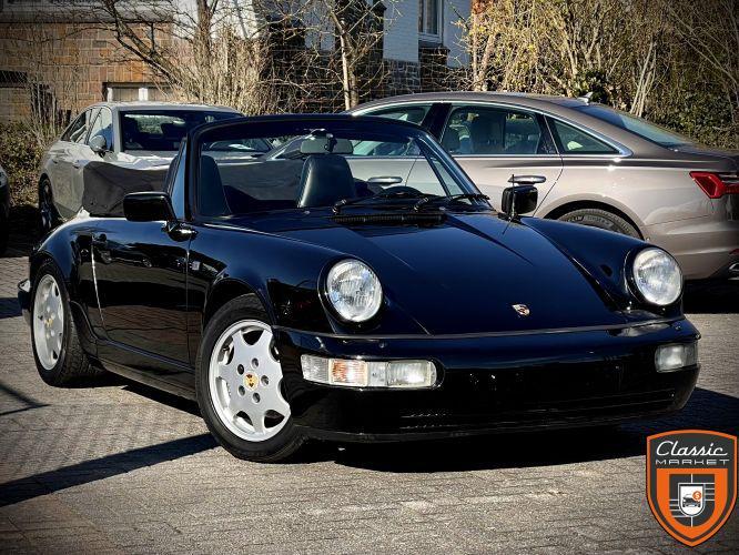Porsche Carrera 2 Cabrio. Boite manuelle. Historique connu