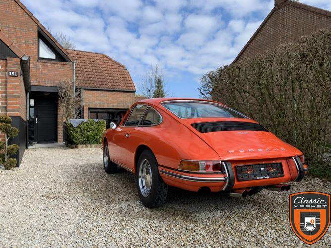 Porsche 912 SWB 1968 orange sanguine tangerine 6809 concours