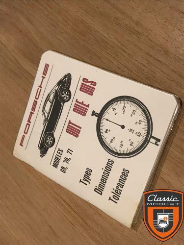 Porsche 911 Classic Specifications Techniques mini-book original