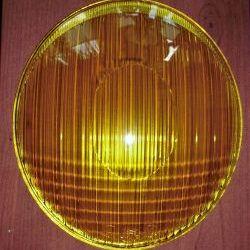 1 set HELLA yellow headlight lenses symmetrical optic